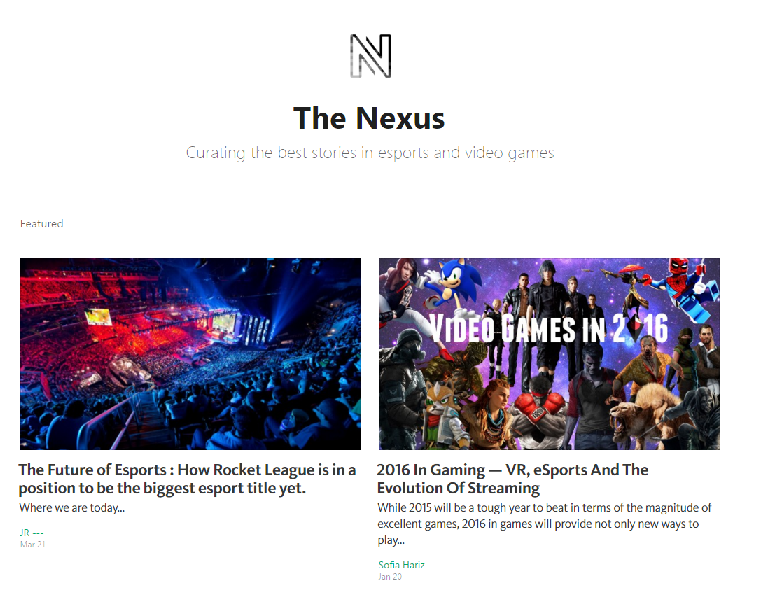 The Nexus - 2016 In Gaming ; VR, eSports And The Evolution Of Streaming