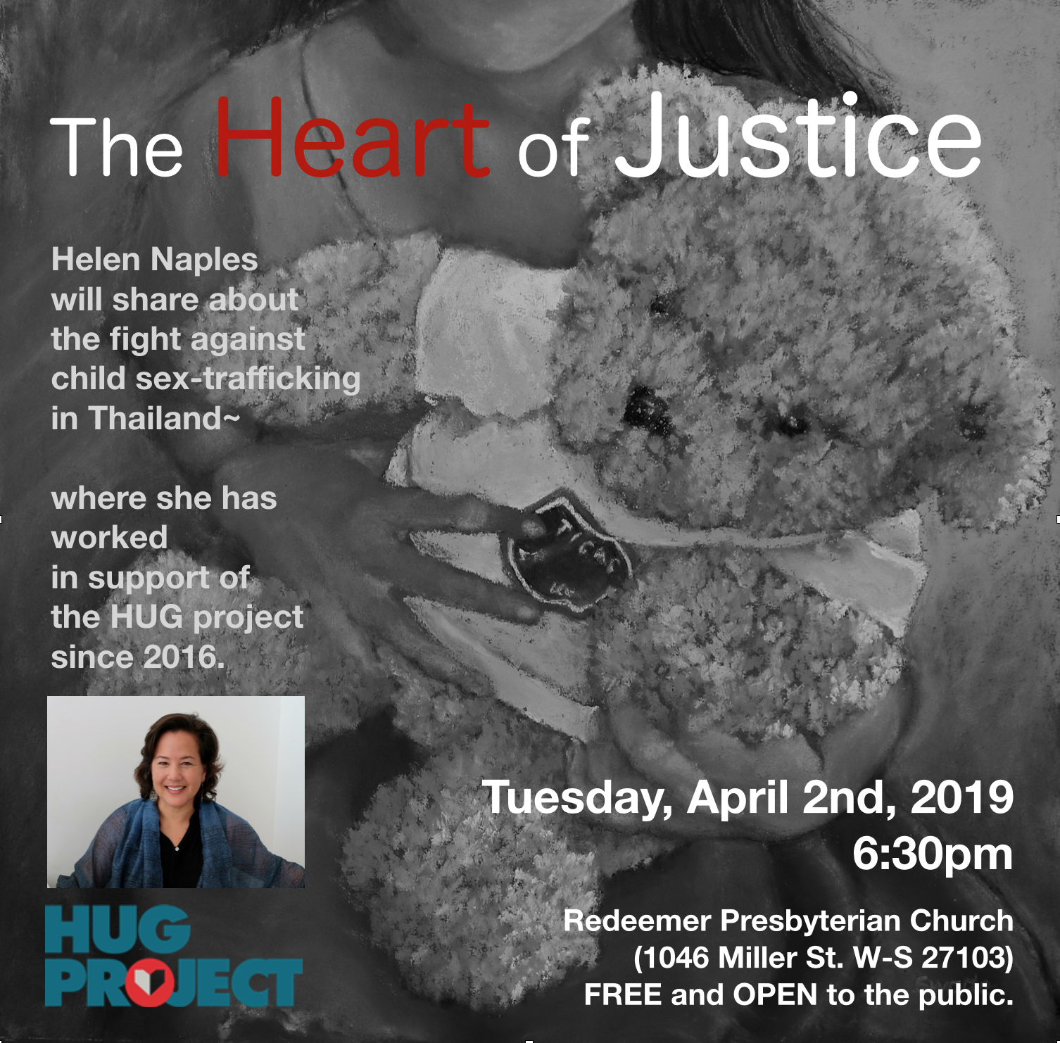 Heart of Justice April 2nd Flyer - Connie Kirkman.png