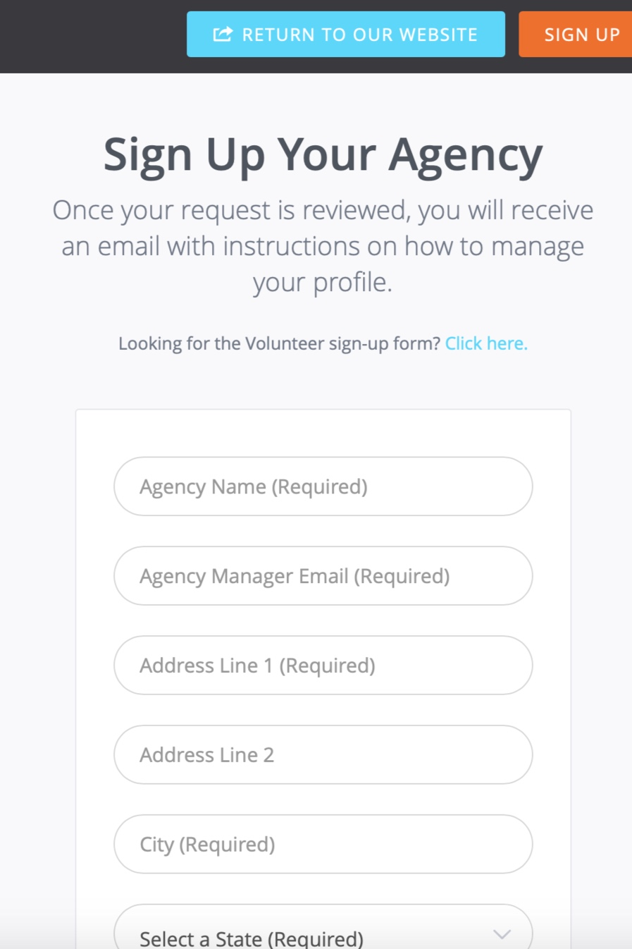 *Agency Manager is the primary contact for Love Out Loud. You can add other agency managers and change the primary contact later.