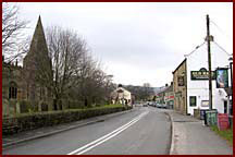 Turn right coming from Hathersage
