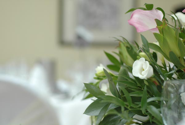 Flowers at Losehill House Hotel and Spa