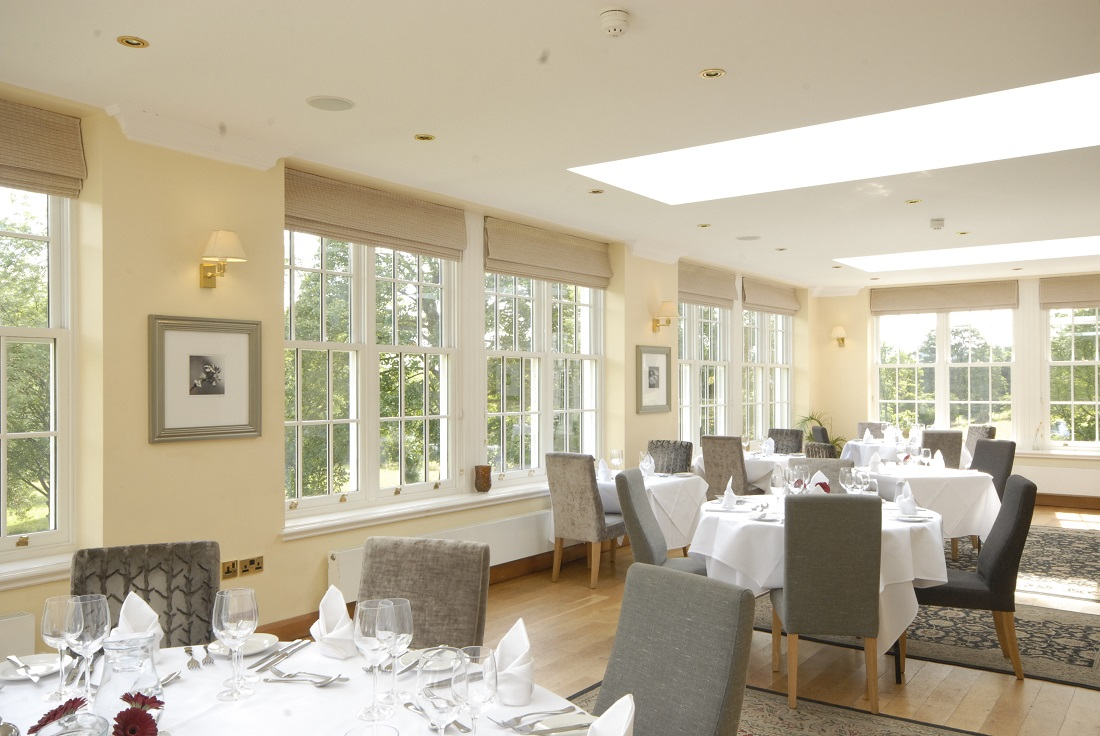 The award winning Orangery Restaurant at Losehill House Hotel and Spa
