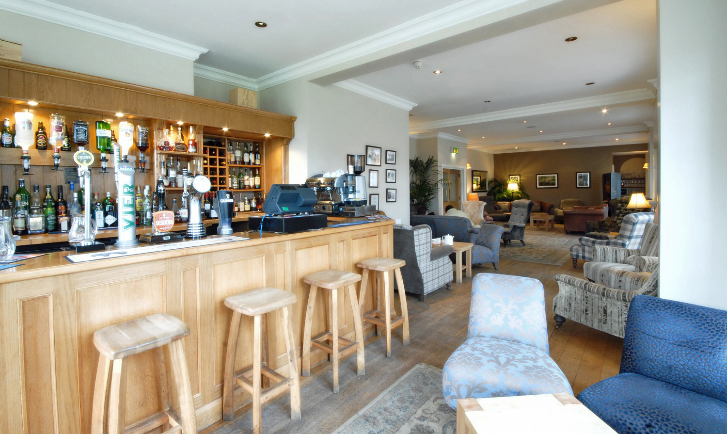 The bar at Losehill House Hotel and Spa