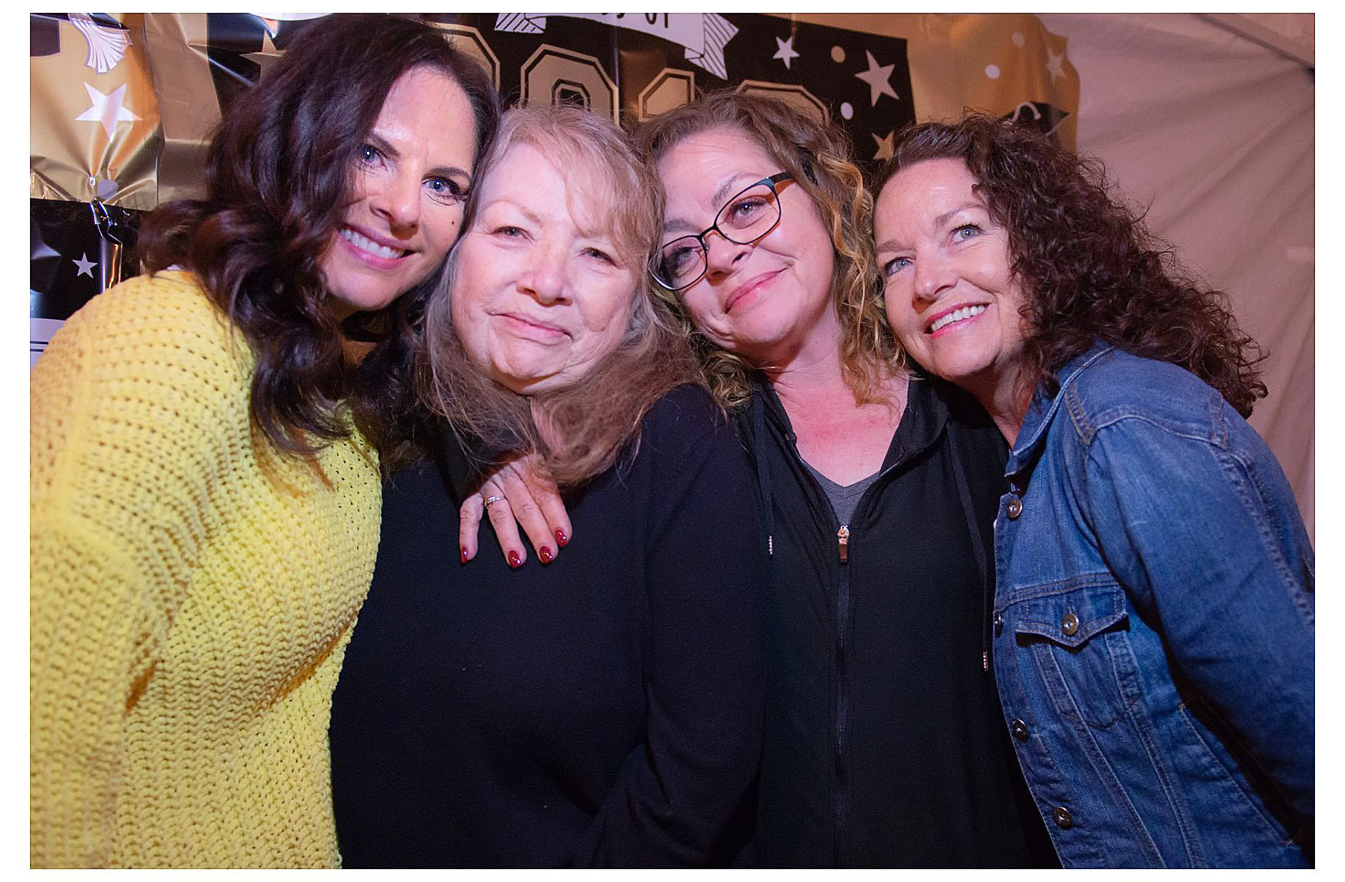 I love this photo! Mom and her three girls. We wish you could have been here Bobby.