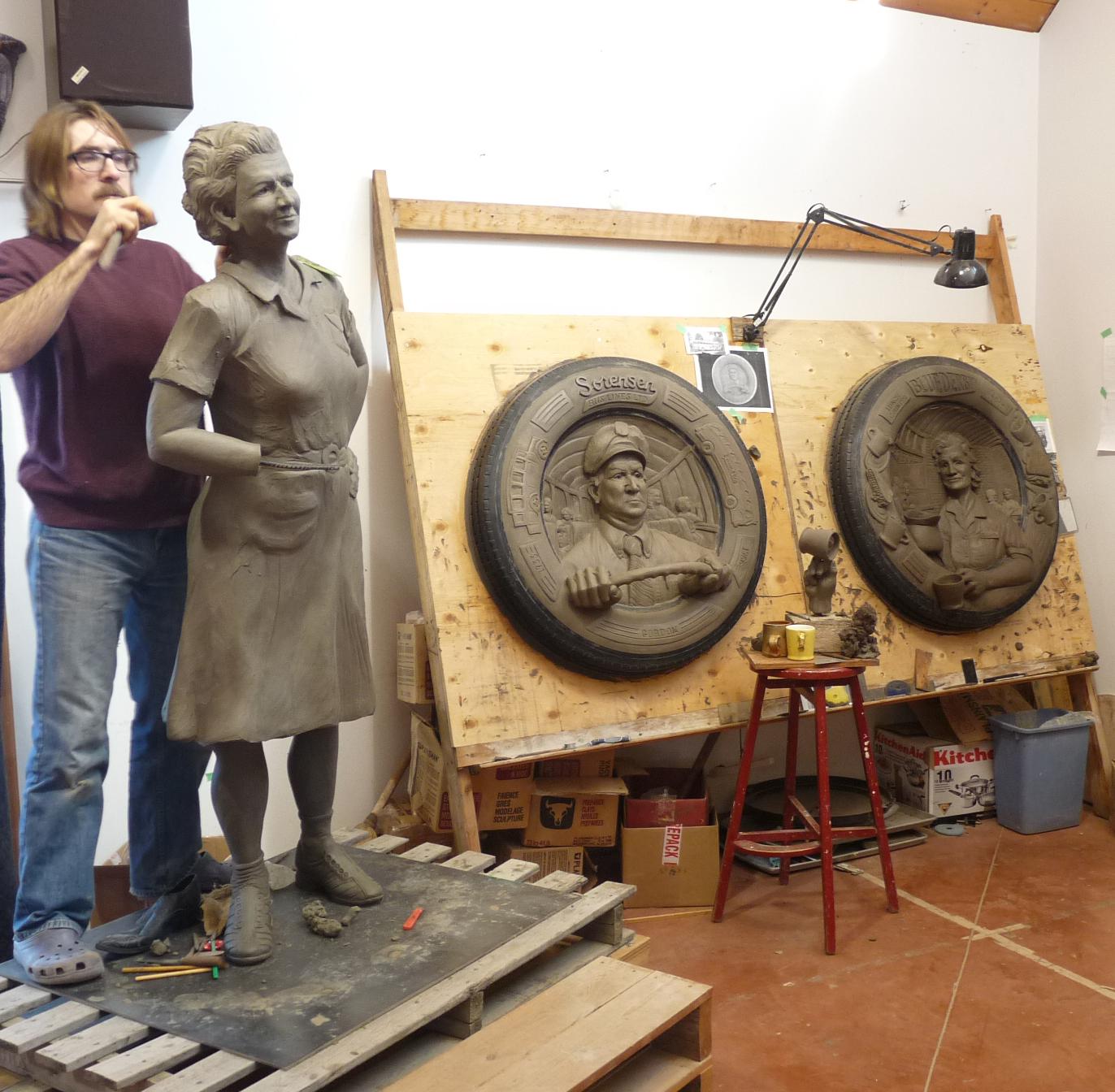 working on Sorensen clay square.jpg