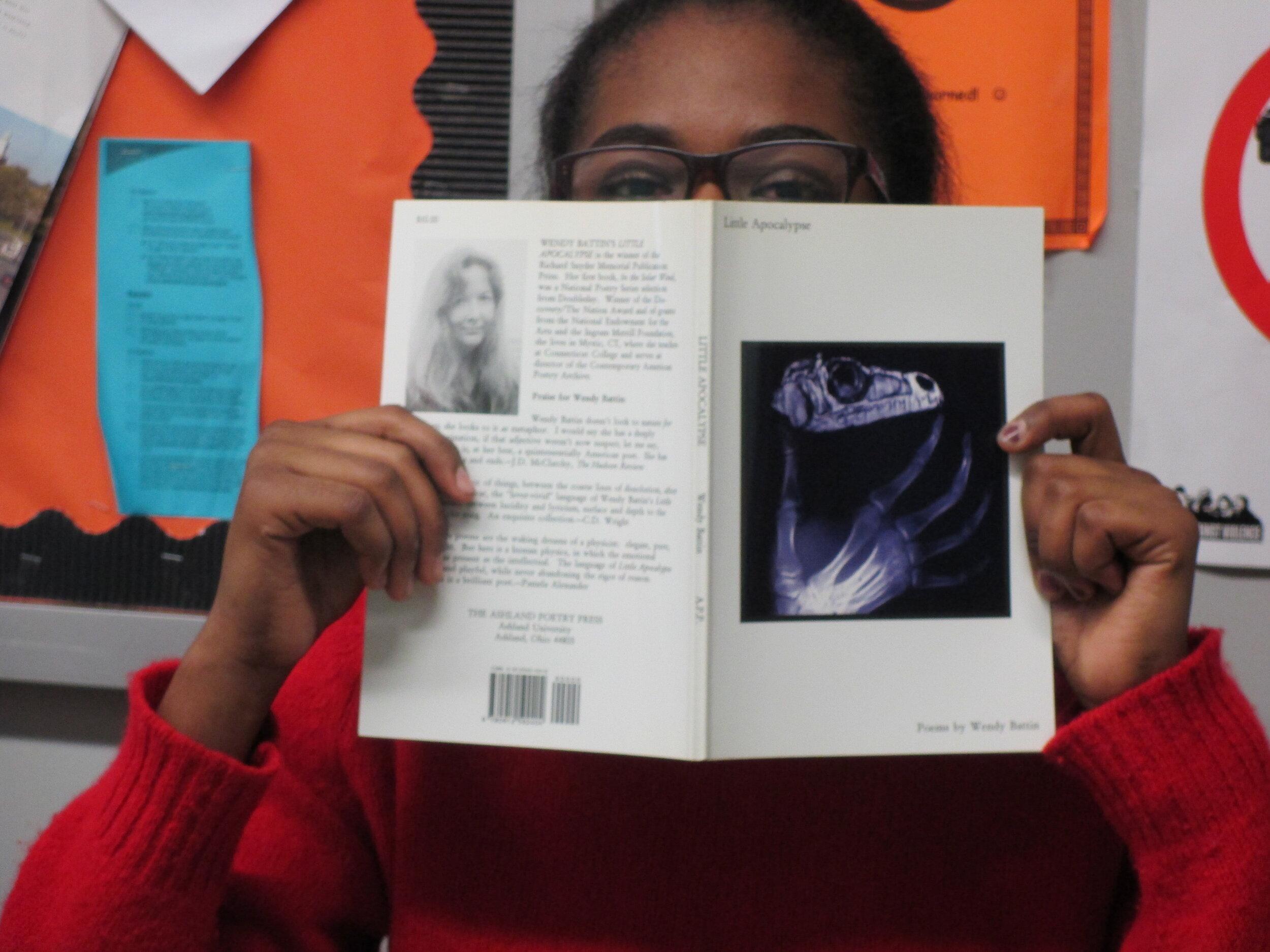 Maya Little Apocalypse Bookface peek.JPG