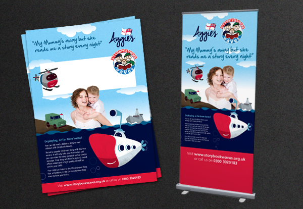 Pop-Up panels, and posters for Storybook Waves