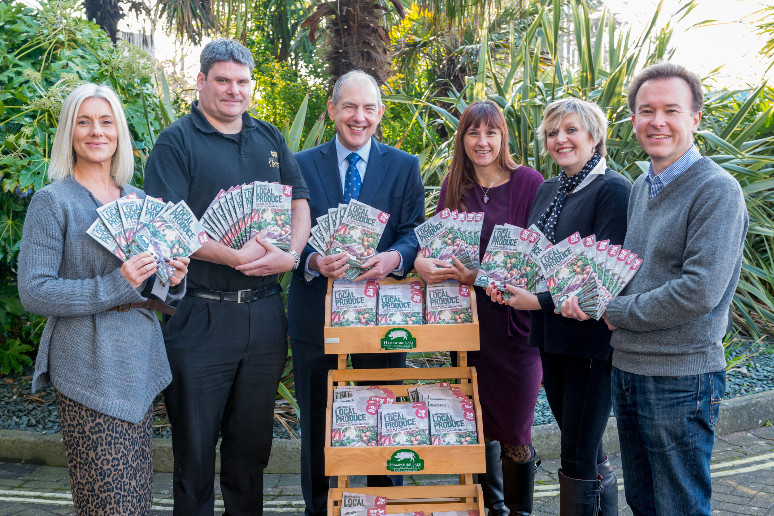 From Left to Right: Kate Hibbert, Southern Cooperative; Phil Clarke, Harvest Fine Foods; Mike Wright, Chairman Hampshire Fare;Jo Scrivener, Starfish; Tracy Nash, Hampshire Fare and Nigel Owens, Rownhams House.