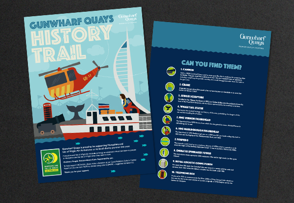 A4 brochure design and illustration