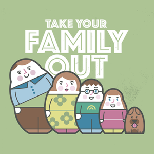 Illustrations for family ticket    When Starfish was asked to develop creatives for MetroBusUK's family ticket campaign, we immediately thought of nesting dolls and created this cute little group.  The marketing campaign comprised a range of materials including outdoor advertising,bus stops and a digital campaign.
