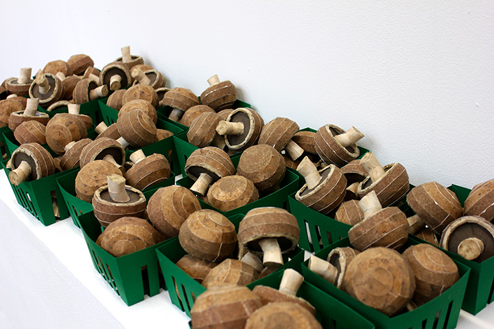 Paper Mushrooms, 2017 A Sculpture for Dark Places that is High in Potassium   You can download and fold your own paper mushroom, a celebration of one of Pennsylvania's largest agricultural crops. Make extra to share!   DOWNLOAD HERE!   Created for the  2017 CSA PGH Share .  Visit  csapgh.com  for more information and to see the completed edition.