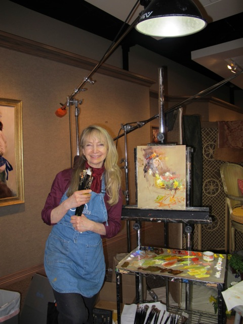 "Teaching at the Scottsdale Artist School.  Here I am giving a demonstration on ""Painting Children from Life"""