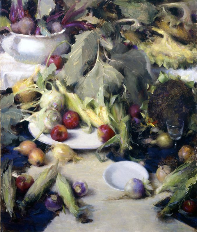"""HARVEST FEAST""     resale    40"" X 30""   oil"