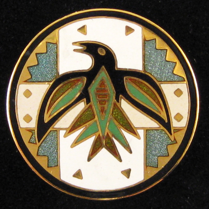 Circling Raven - Front - Green