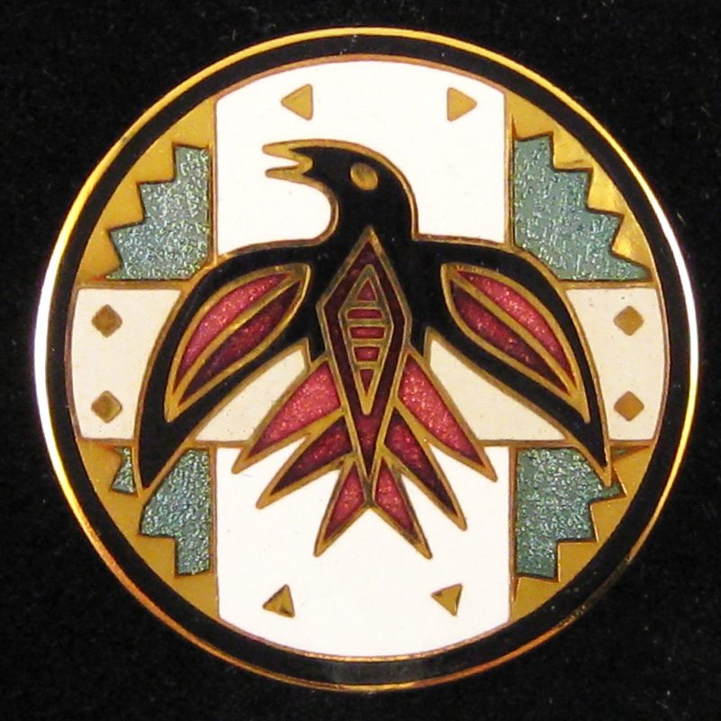 Circling Raven - Front - Red