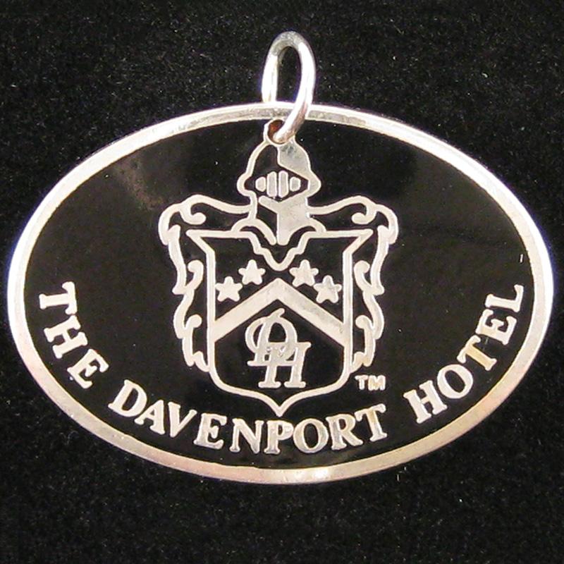 Davenport Hotel - Front Pendant - Silver