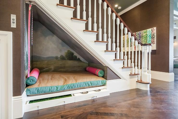 Dogs love to find random niches in your home to curl up in, why not outfit one especially for them?