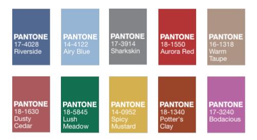 Pantone Fall 2016 Color Report.