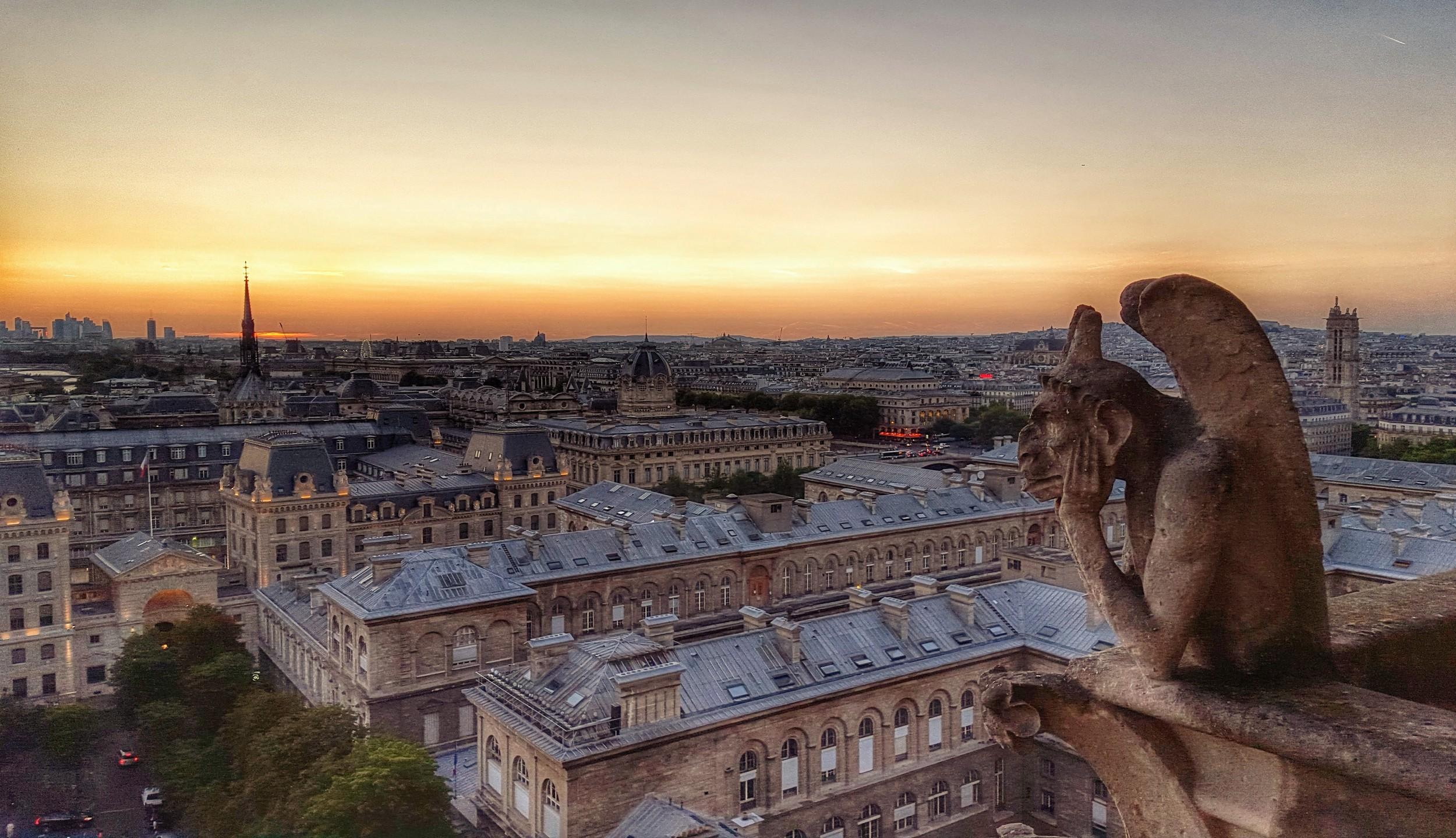 Sunset, Notre Dame - Paris