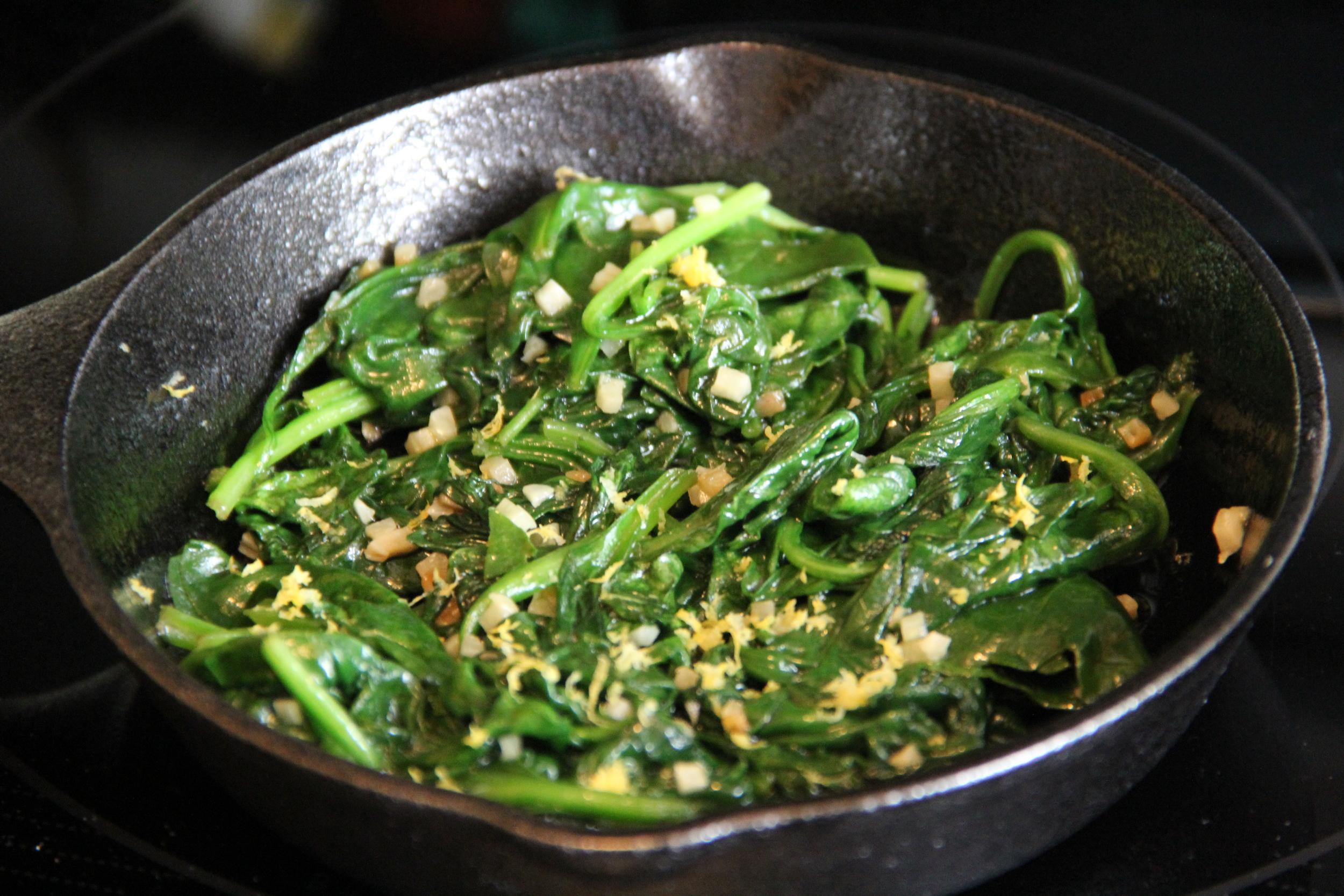 Spinach w Lemon Zest.JPG