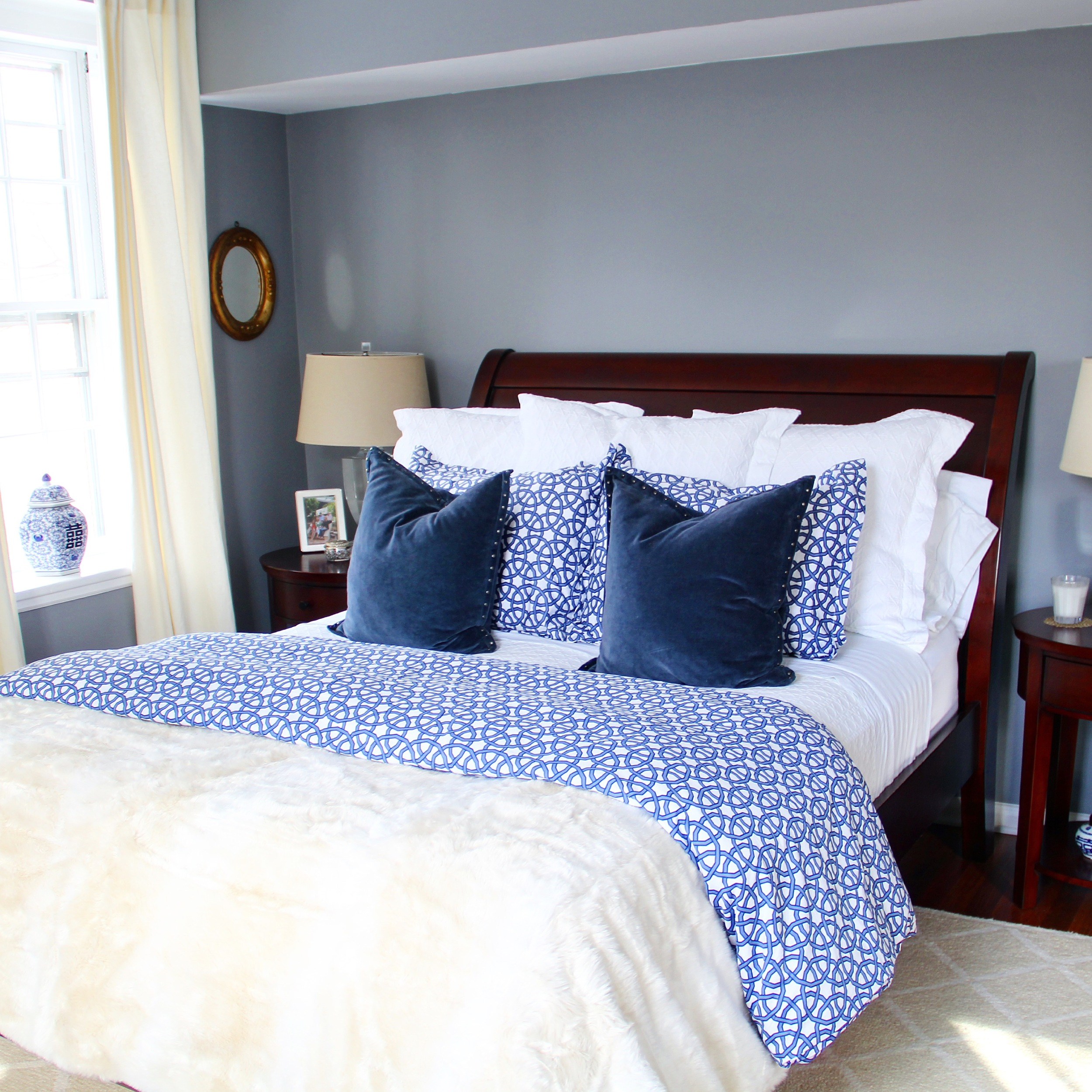 Crate and Barrel Union Square Duvet Cover and Shams.JPG
