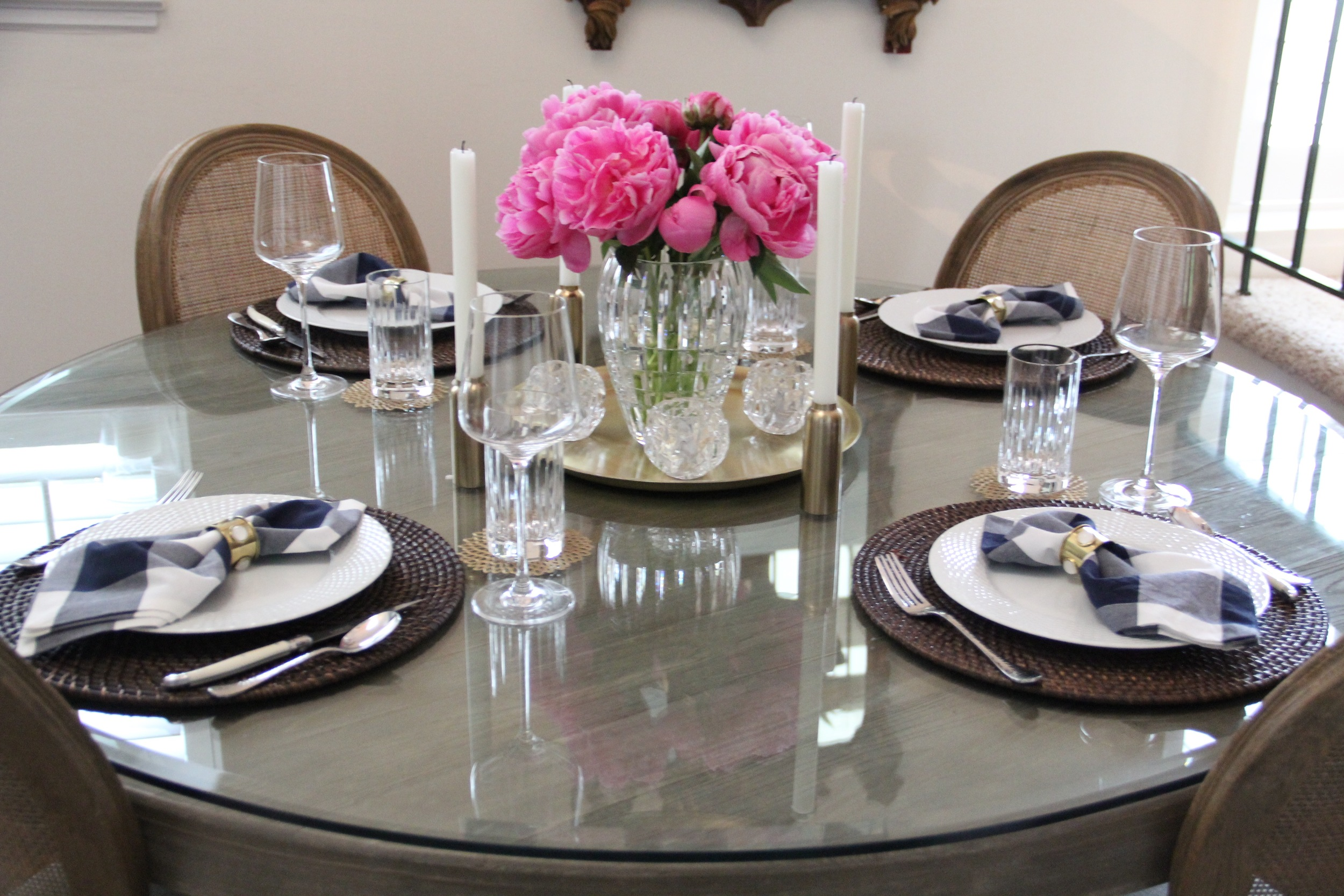 Peonies and CB2 Wine Glasses.JPG