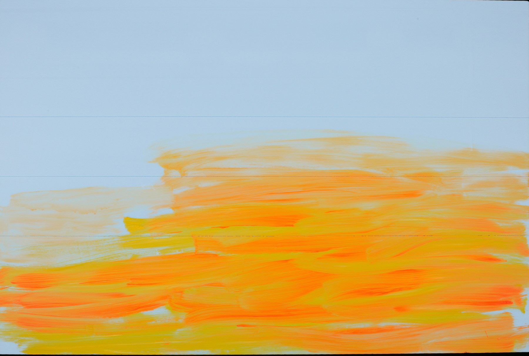 Acrylic on extruded insulation.  48 by 72 inches. 2011.