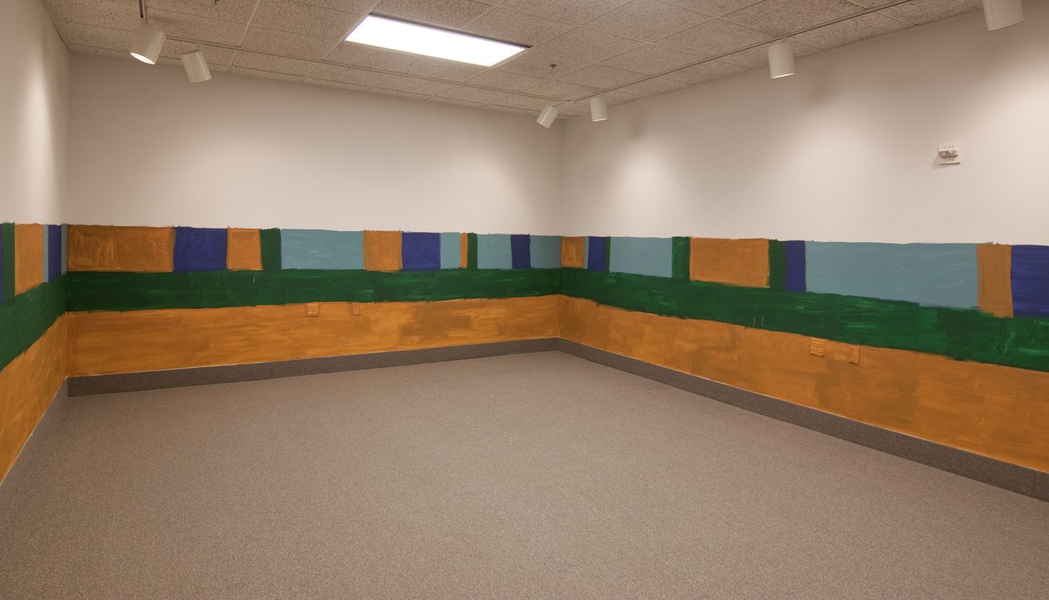 Site specific painting and M4 replica.  2014. (Ridgewater College, Hutchinson, MN).
