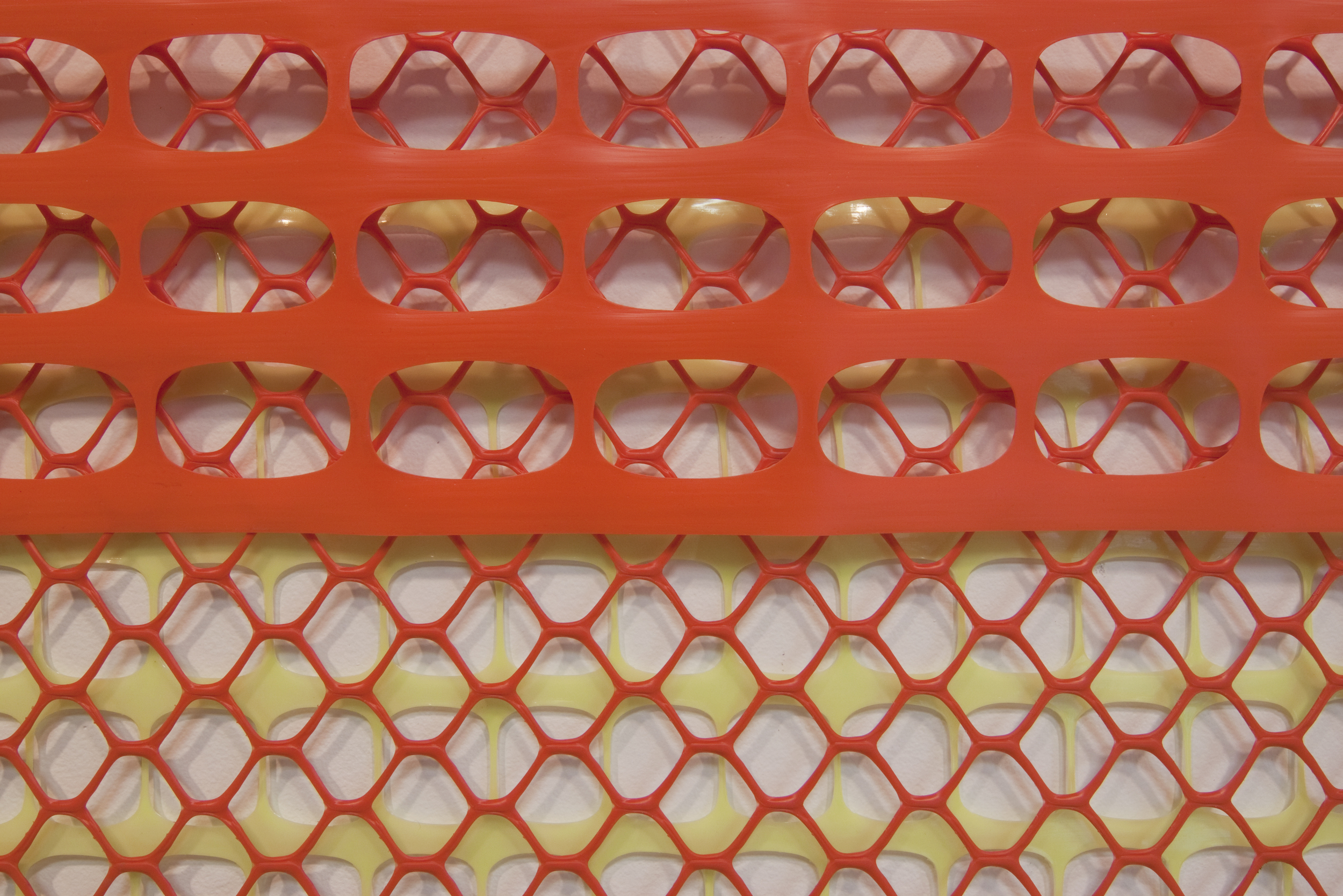 Construction/Safety fence (detail).