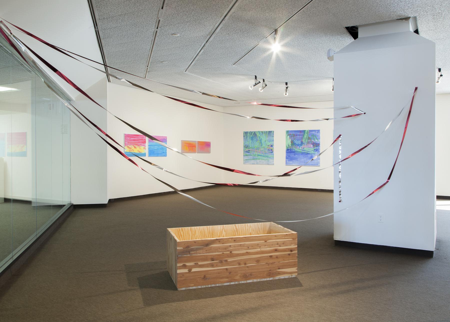 Talisman Against Endless Growth   Cedar, plywood, bird tape. 2015.