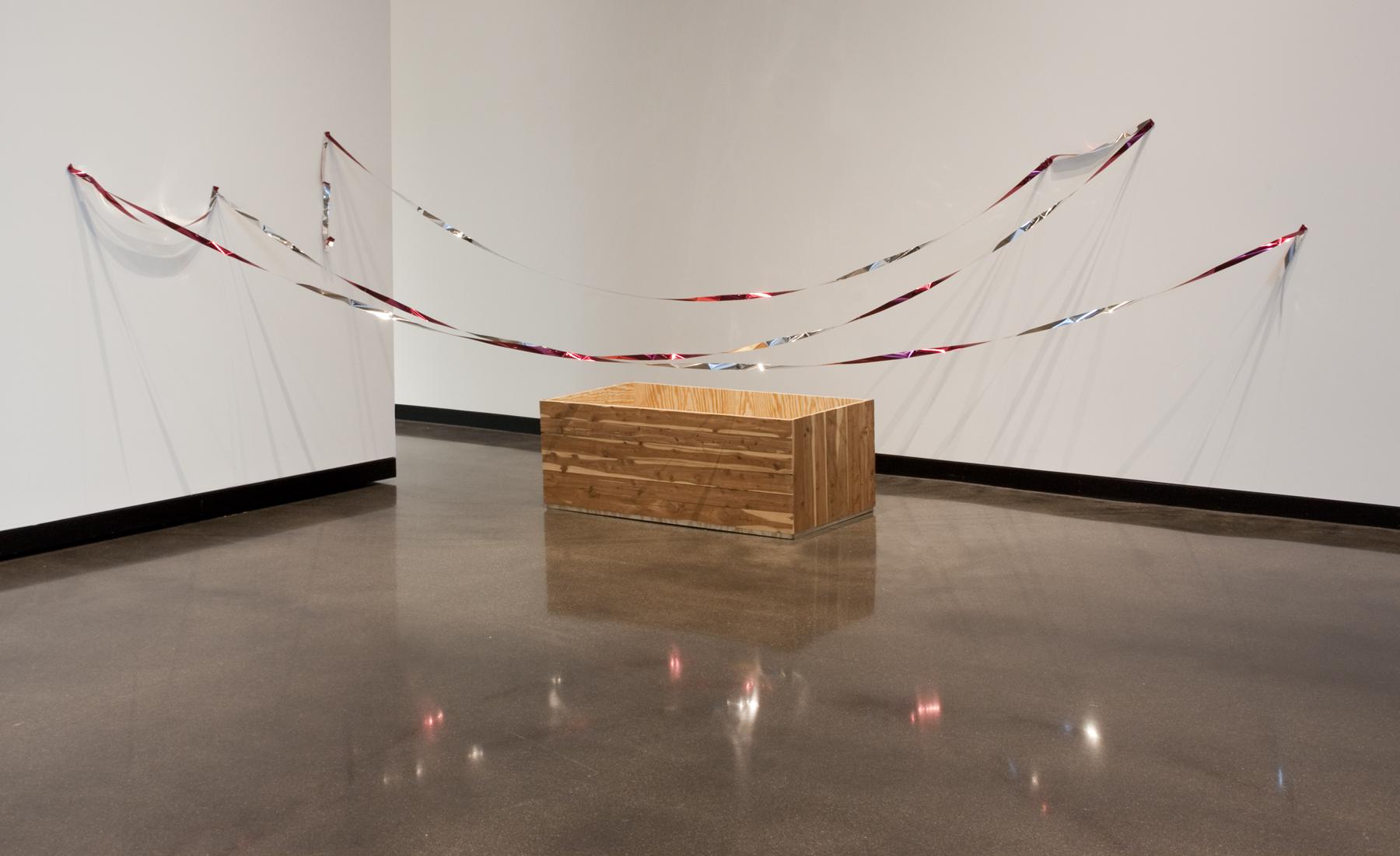 Talisman Against Endless Growth   Cedar, plywood, bird tape. 2014.