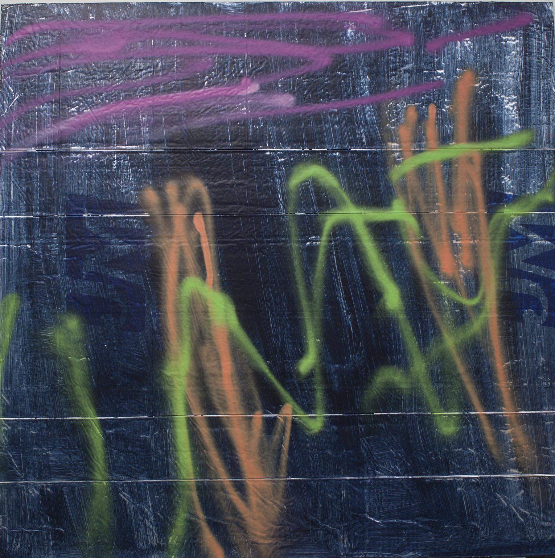Aurora Borealis   Acrylic on aluminum-faced rigid foam board.  48 x 48 inches. 2015.