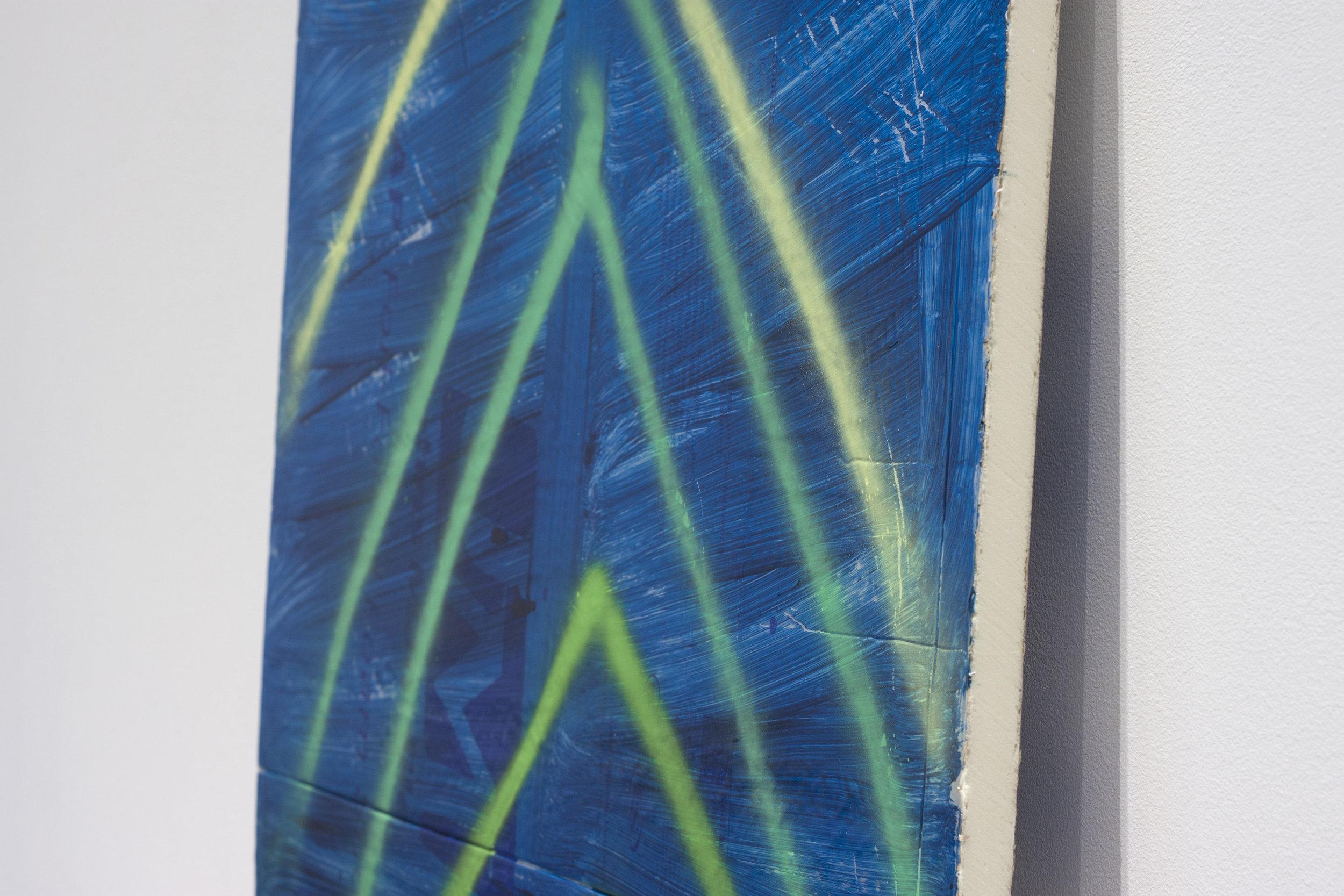 Aurora Borealis   Acrylic on aluminum-faced rigid foam board.  42 x 48 inches. 2016.