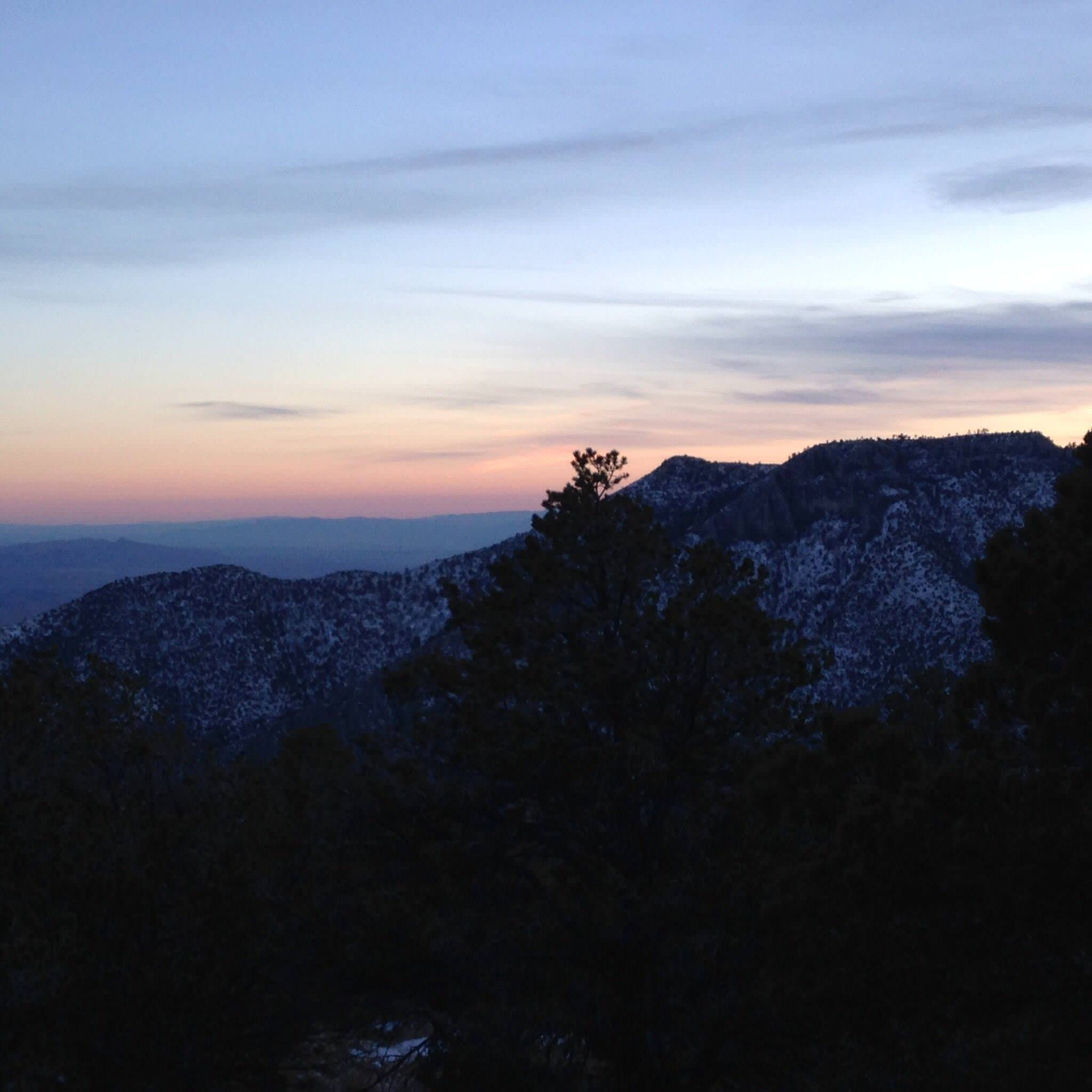 Sunset view from Pine Top campground