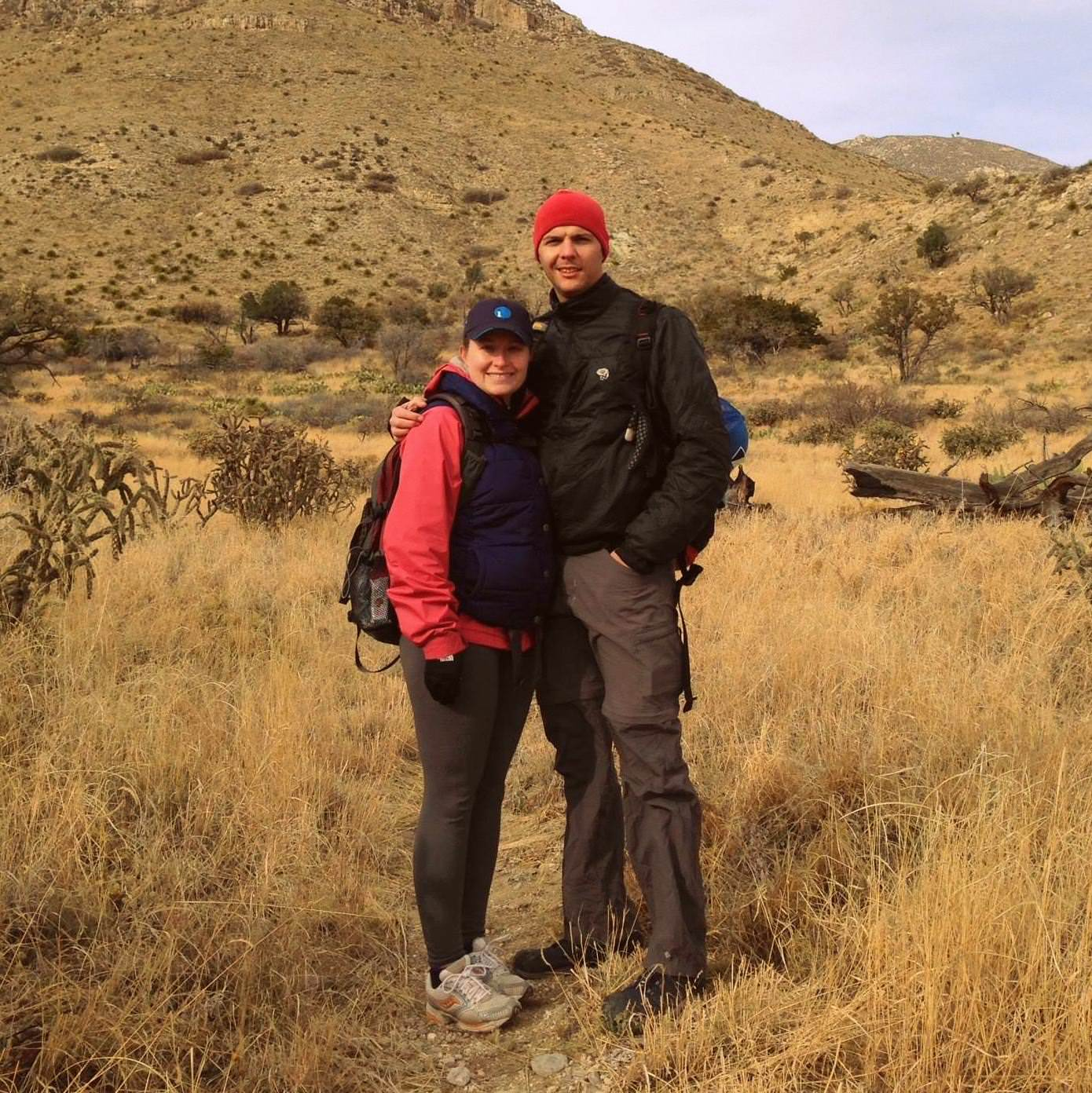 Ken and I on the Foothills Trail at GUMO