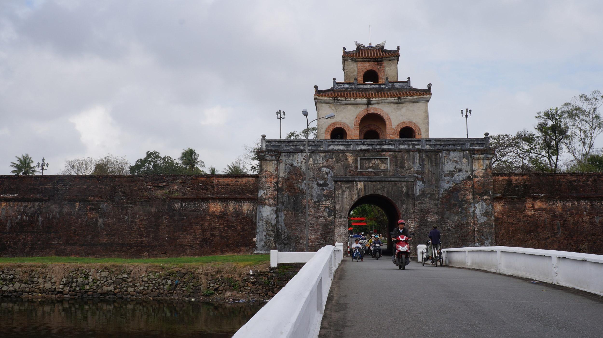 Bridge over the moat surrounding The Citadel in Hue
