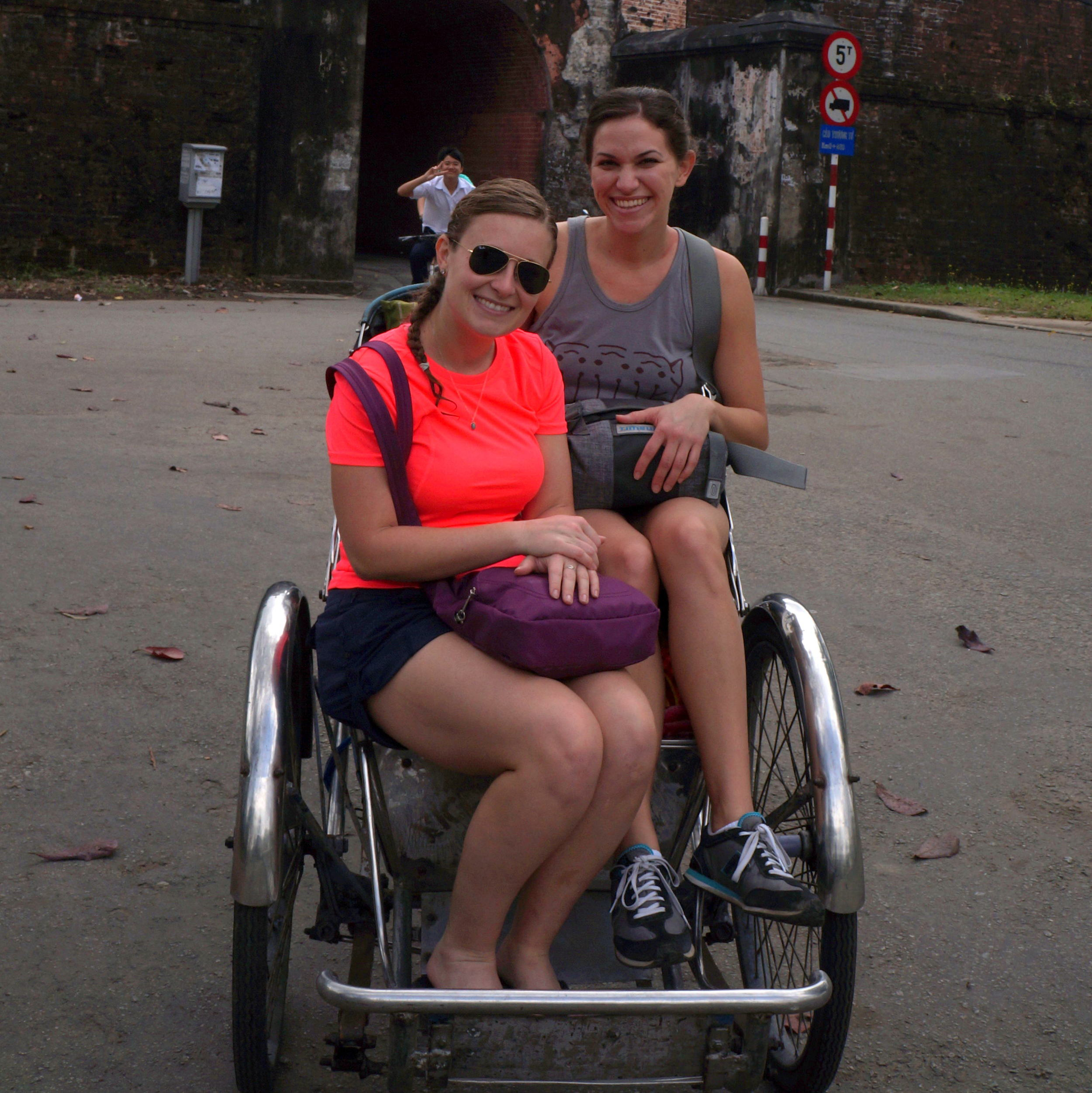 My cousin, Chelsea, and me in Hue, Vietnam