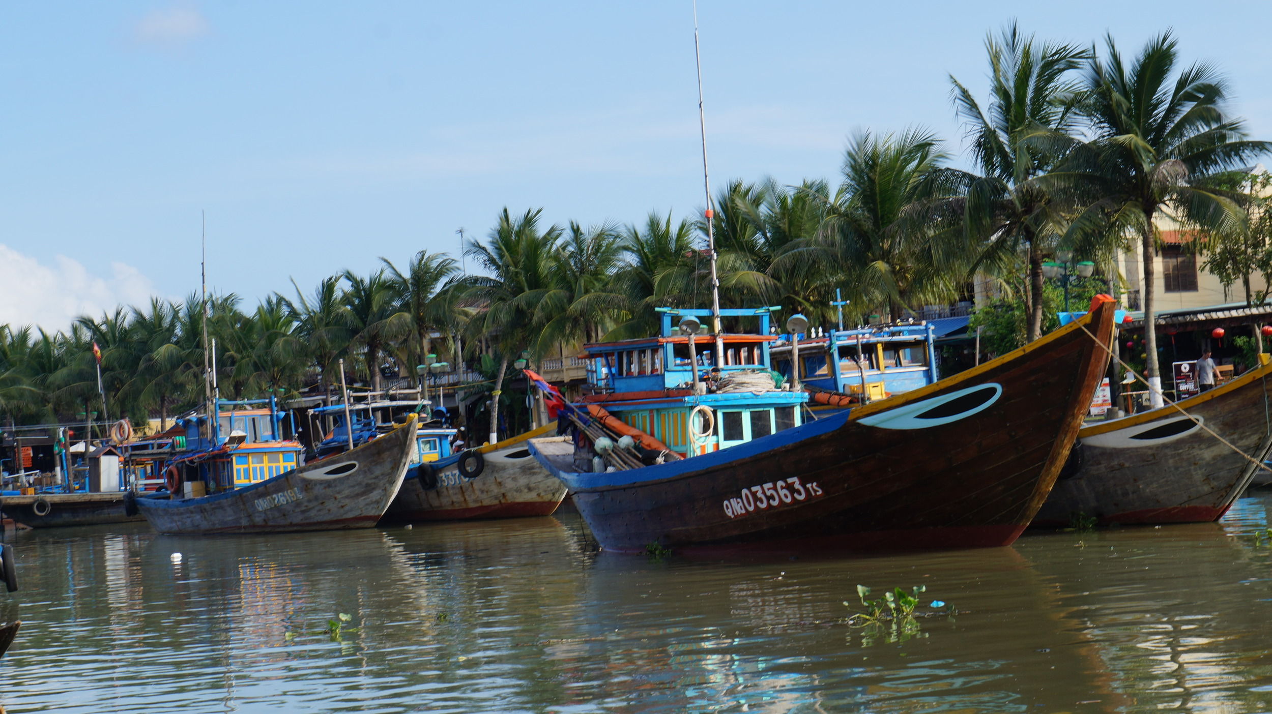 Colorful boats in Hoi An