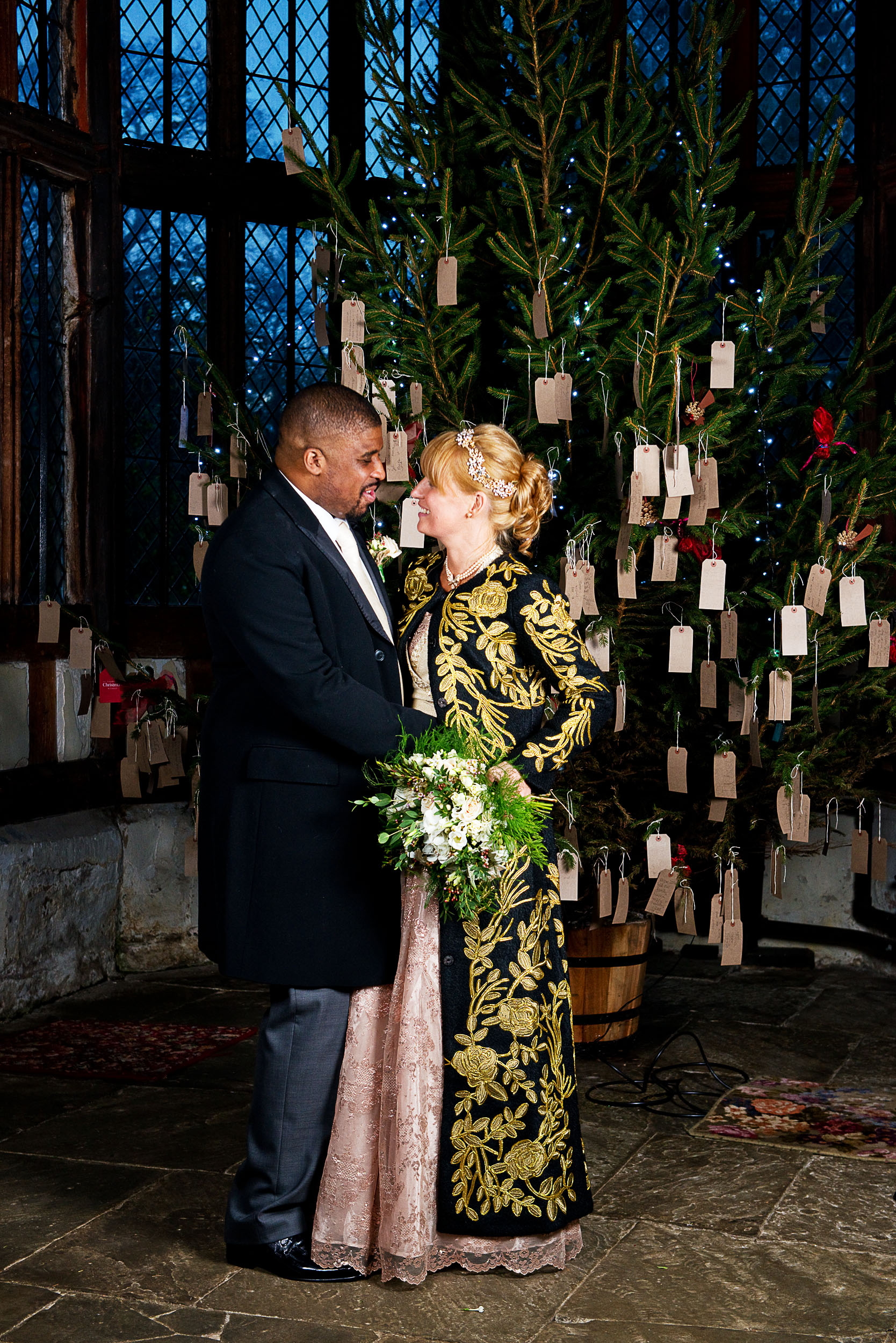 Christmas wedding at Rufford Old Hall in Lancashire