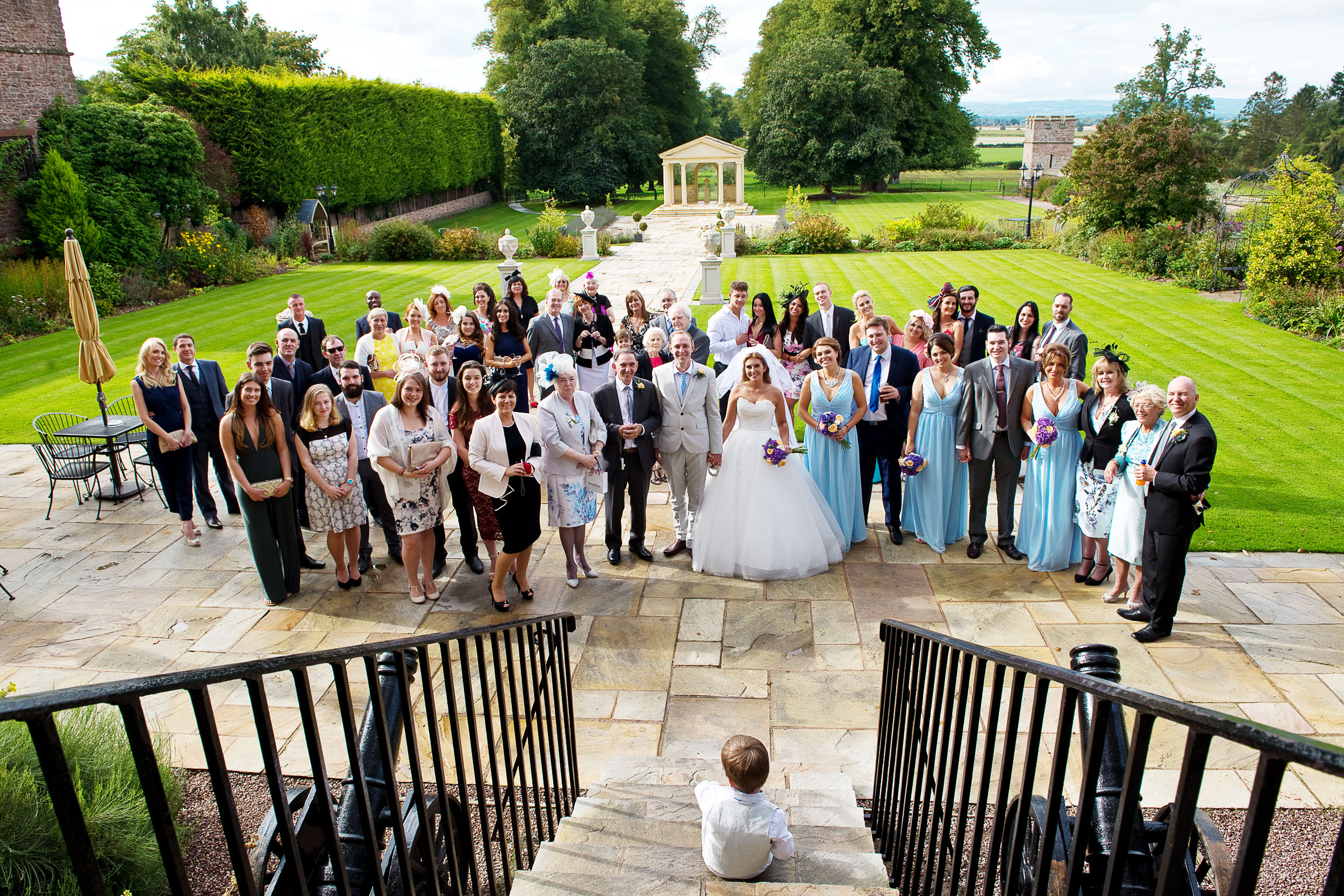 The little boy is the son of the bride and groom who wanted to help me organise the photograph