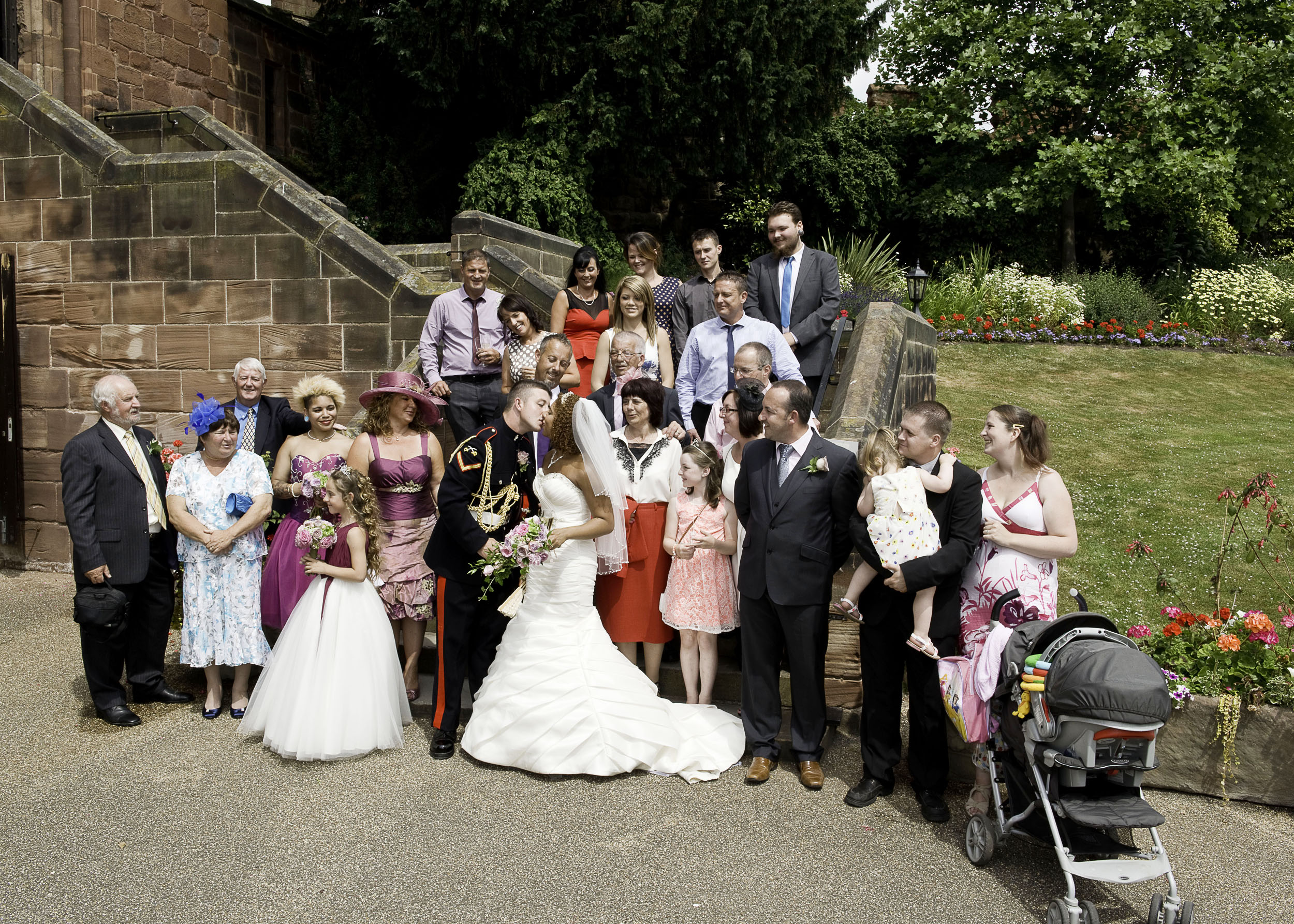 Wonderful wedding at Shrewsbury Castle with a lovely family.