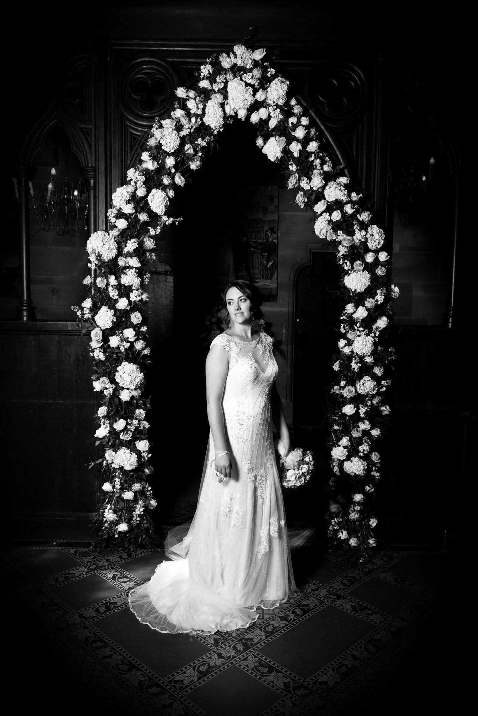 black-and-white-dark-vignette-richard-linnett-photography-peckforton-castle-cheshire
