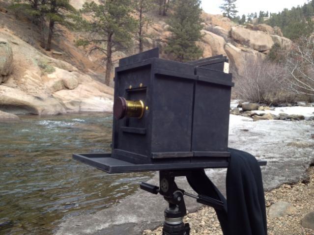 8x10 sliding box camera in the field.