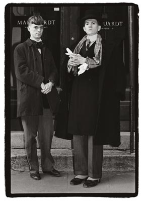 Peter McGough and David McDermott. Spring Street and West Broadway. 1983. Amy Arbus.