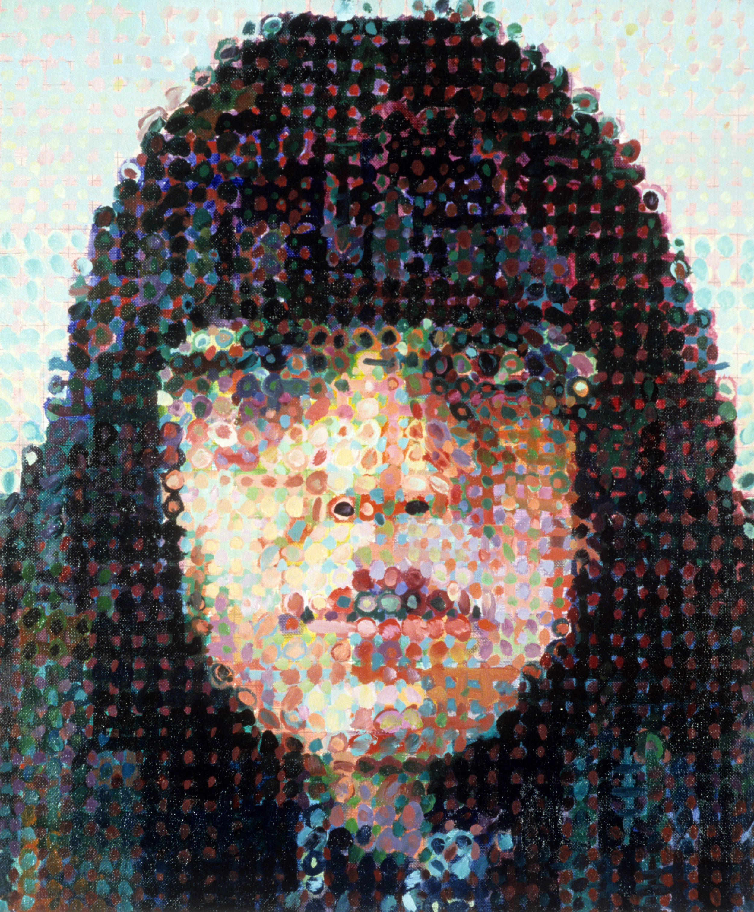 Susan ,  1987 ,Chuck Close. Courtesy of Louis K. Meisel Gallery