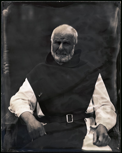 Martin , wet plate collidion, made with gazebo camera