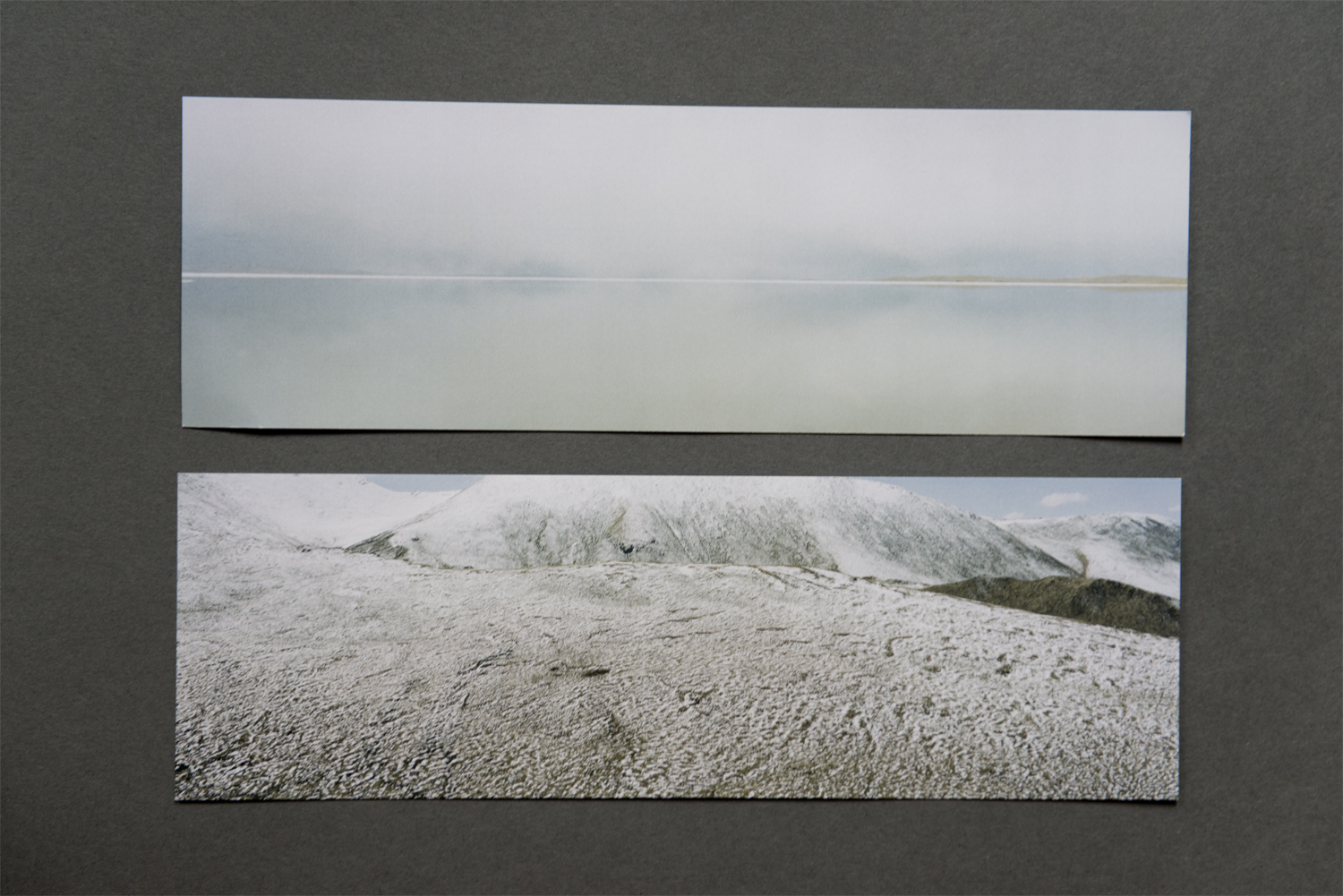 For unusually shaped photographs, the standard postcard just doesn't cut it. Ian Teh's elongated cards are perfectly suited to his panoramic images of China's Yellow River. The sturdy cardstock keeps them from feeling flimsy or bookmarkish and the lack of glossy finish allows for the full range of the subtle color palate to come through. Designed to accompany his Photoville exhibition, the cards comprise a set of five, each one with a different photograph on the front. The long shape allows for more information about the project than is common. The back of the card contains a project statement and a brief biography of the artist.