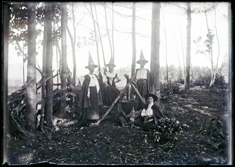 Witches, circa 1890