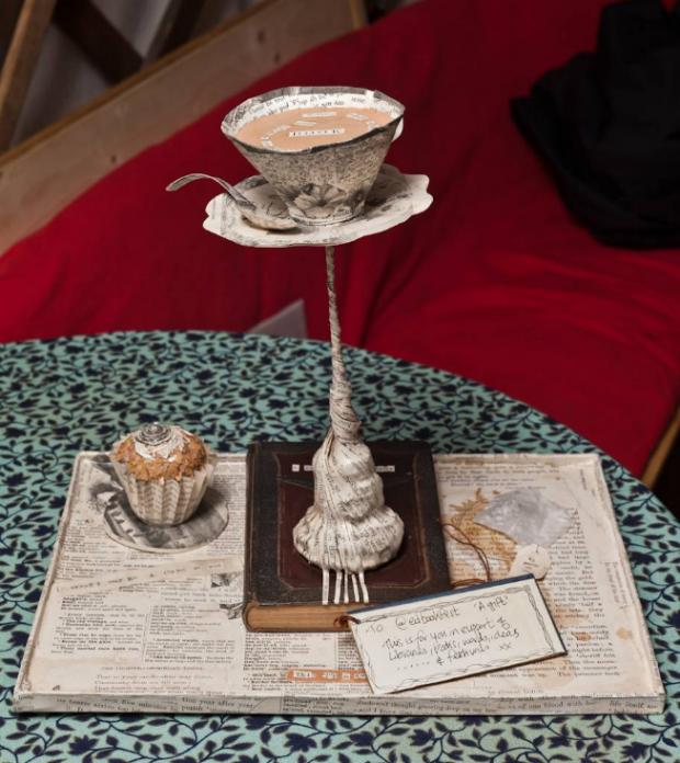 Tea, Cake and a Book  found at the Edinburgh International Book Festival, August 2011
