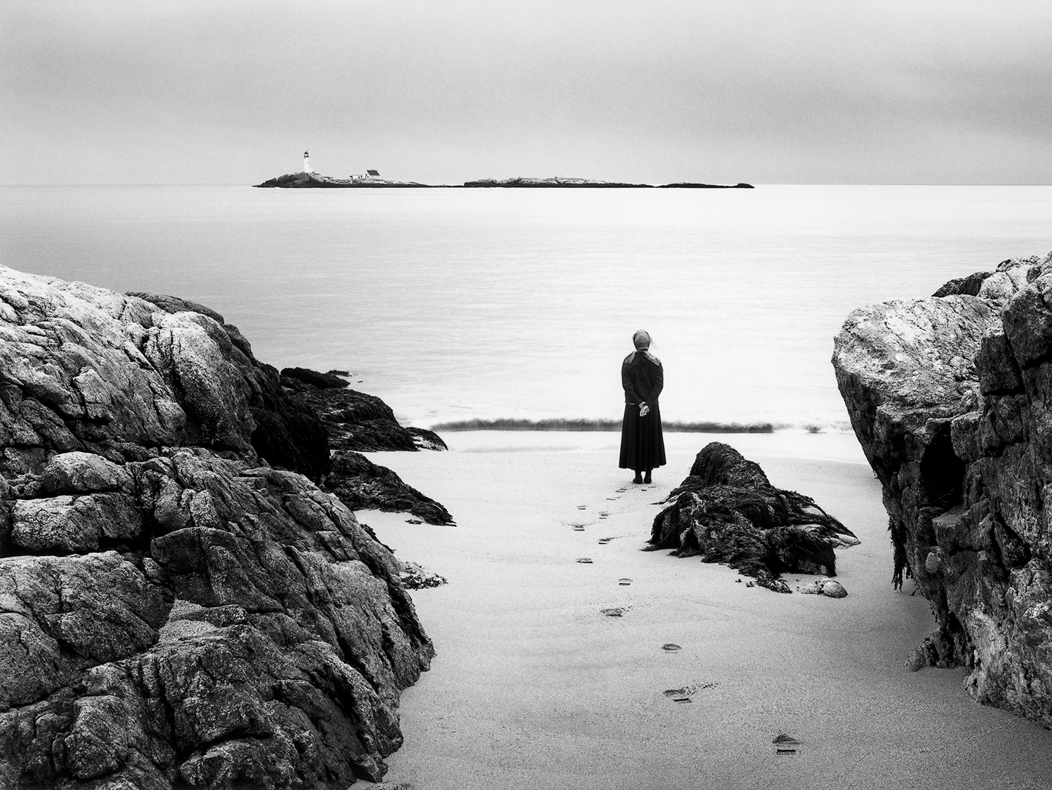 Looking Seaward, Self-portrait + Small Island, Big Picture  monograph  Alexandra de Steiguer  6 x 9, signed and numbered silver gelatin print Hardcover, 128-page, signed monograph